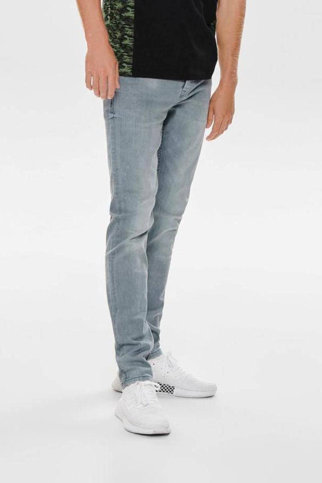 ONLY & SONS slim fit jeans ONSLOOM grey denim 3627, Grey Denim 3627