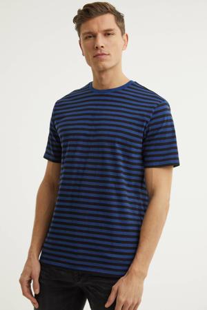 T-shirt met strepen blauw