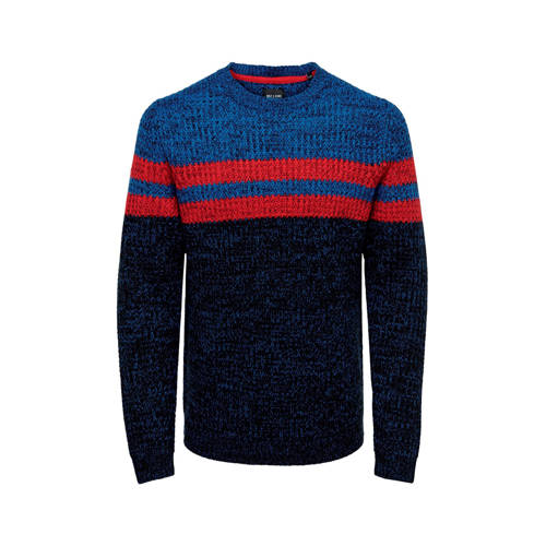 ONLY & SONS trui blauw/rood