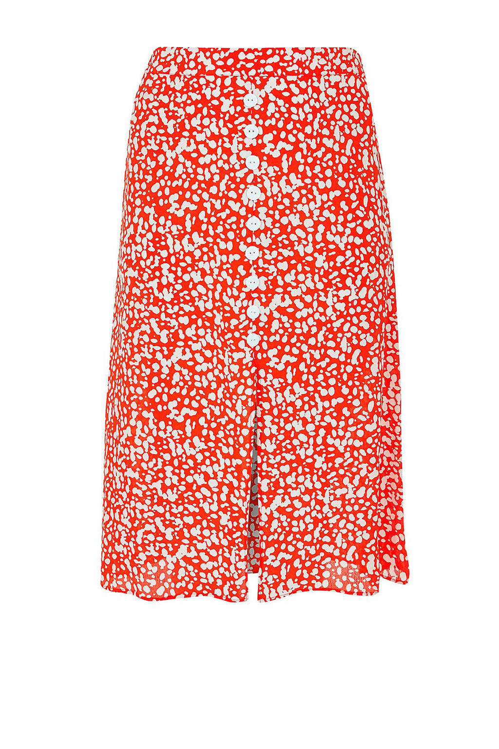 River Island Plus rok met all over print, Rood/wit