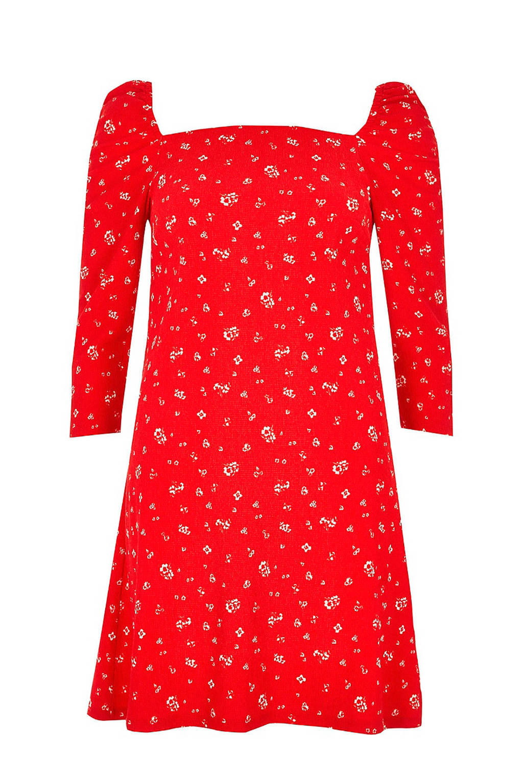 River Island jurk met bloemenprint, Rood