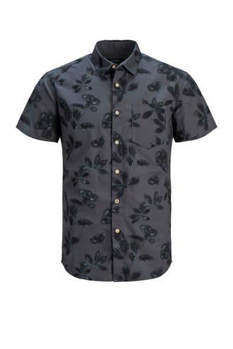 Premium slim fit overhemd met bladprint