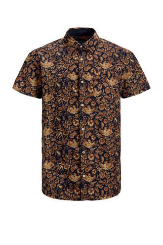 Premium slim fit overhemd met all over print