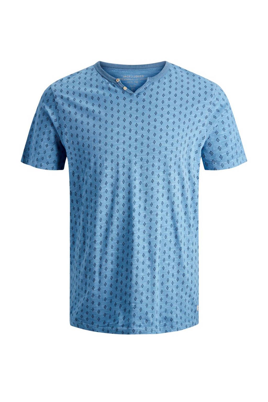 Jack & Jones Premium slim fit T-shirt, Lichtblauw