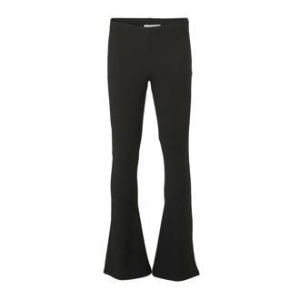 ba4401c2fbd858 flared broek Zuma met streep dessin zwart