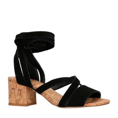 SPM for Sacha suède sandalettes zwart