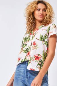 America Today gebloemde blouse lichtroze, Lichtroze