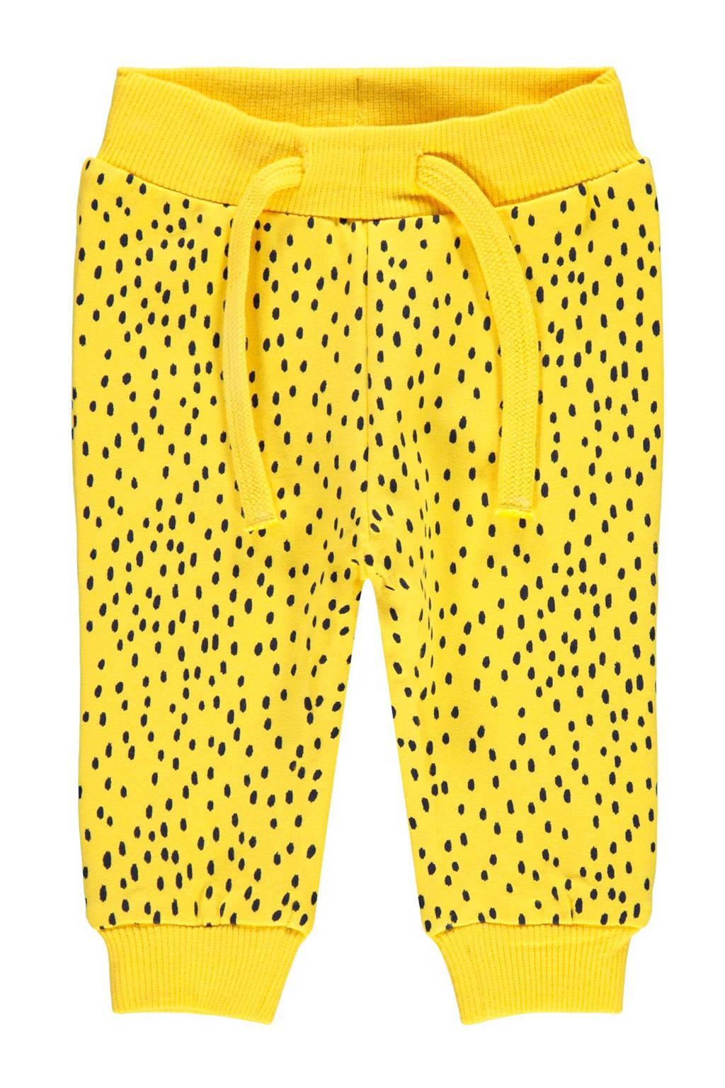 name it   joggingbroek met stippen geel, Geel