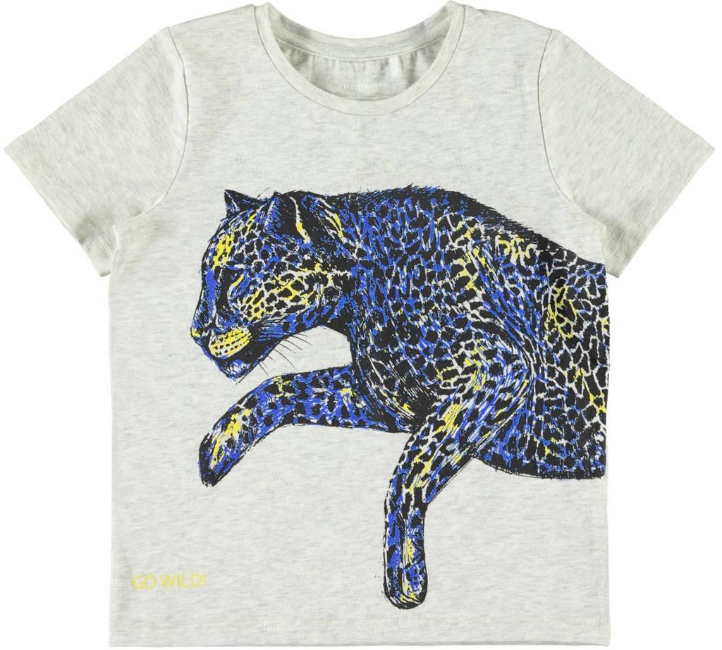 NAME IT T-shirt Julian grijs, Grijs melange