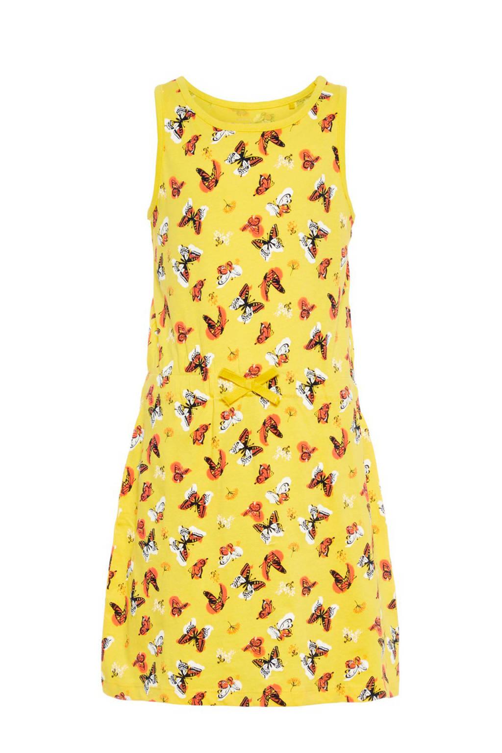name it jurk Vigga met vlinders geel, Geel