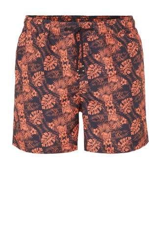zwemshort met all over print marine
