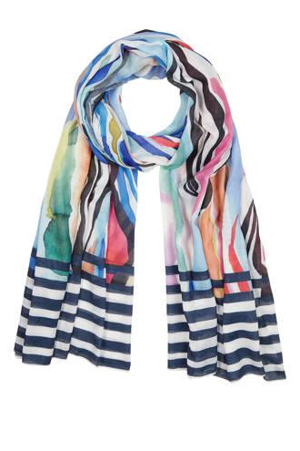 gestreepte sjaal multi-kleur
