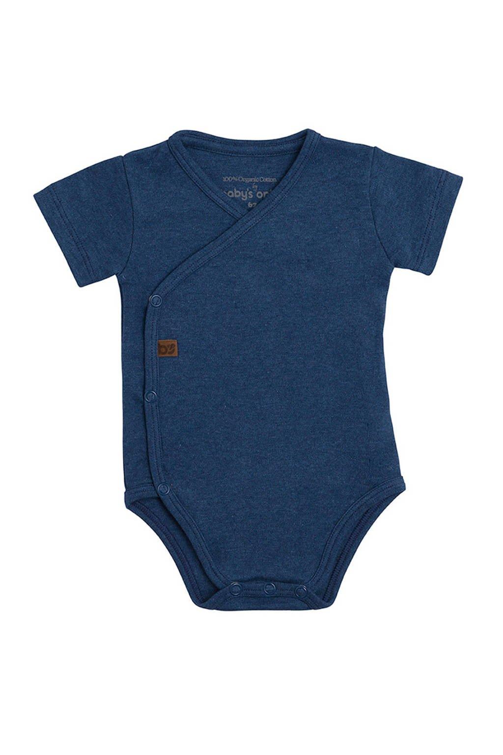 Baby's Only newborn baby romper, Donkerblauw