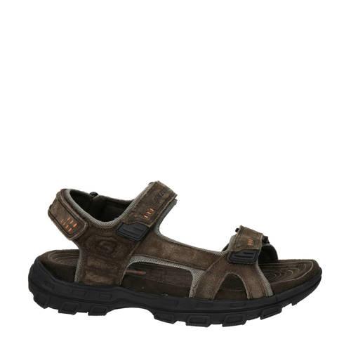 Skechers su??de sandalen bruin
