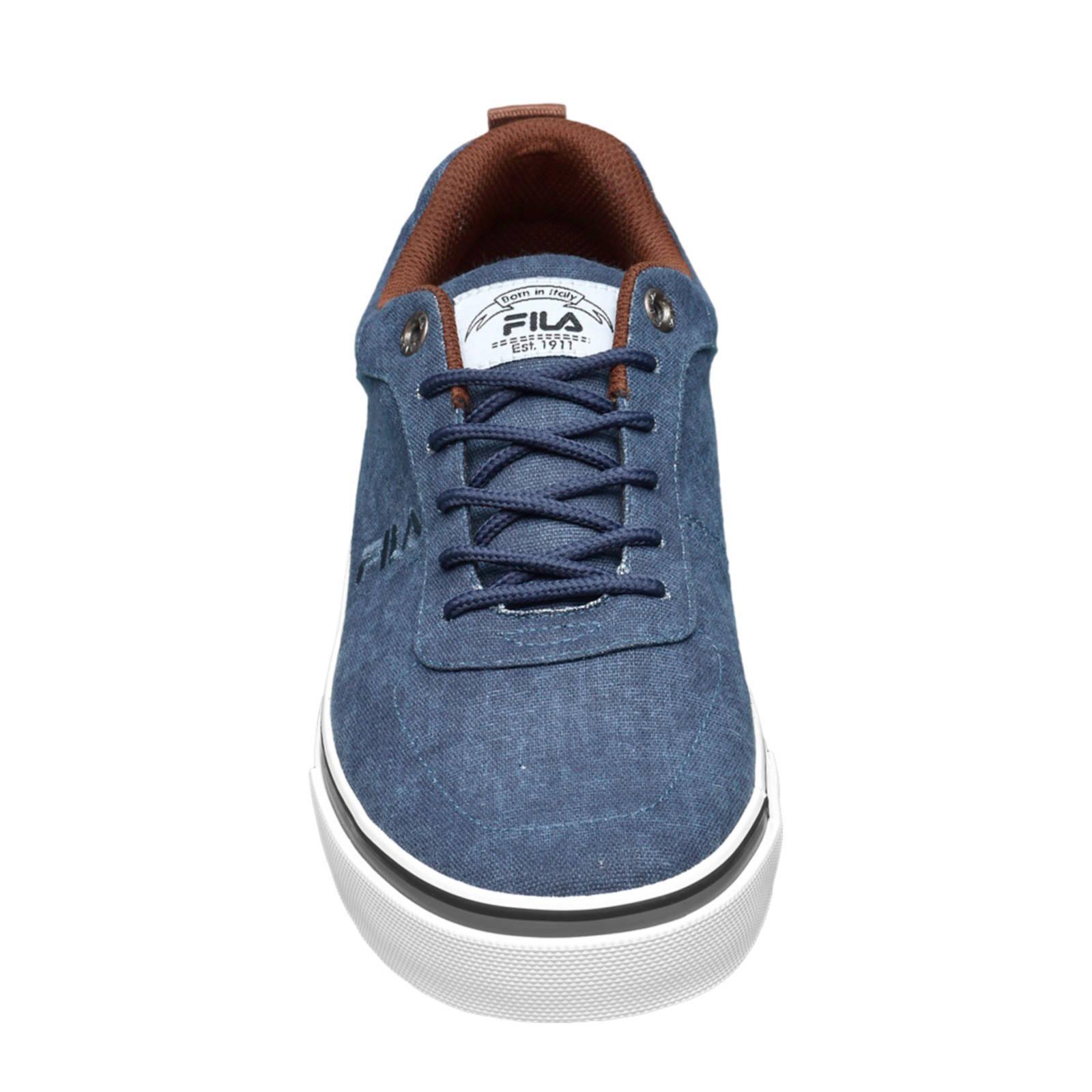 Fila canvas sneakers denimblauw | wehkamp