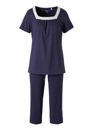 pyjama met stippen donkerblauw