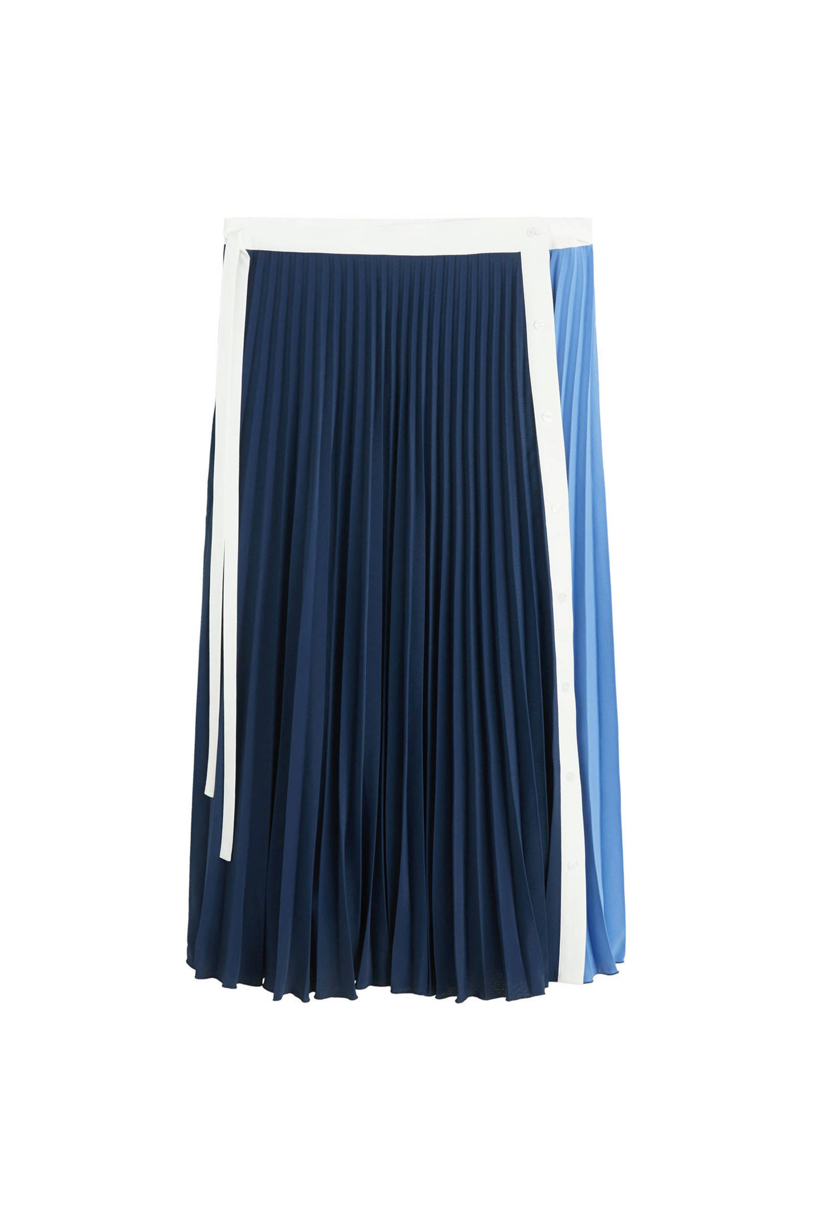 plisse rok blauw