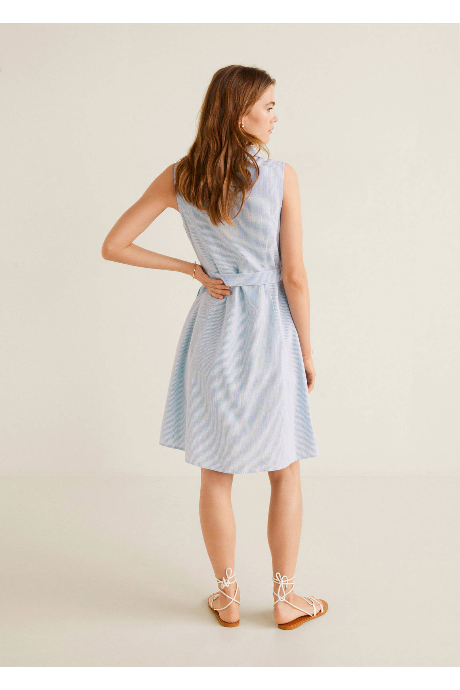 jurk pastel blauw