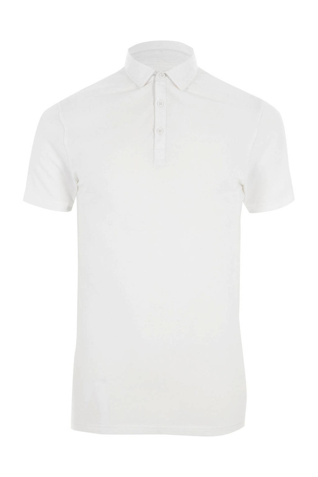 River Island slim fit polo, Wit