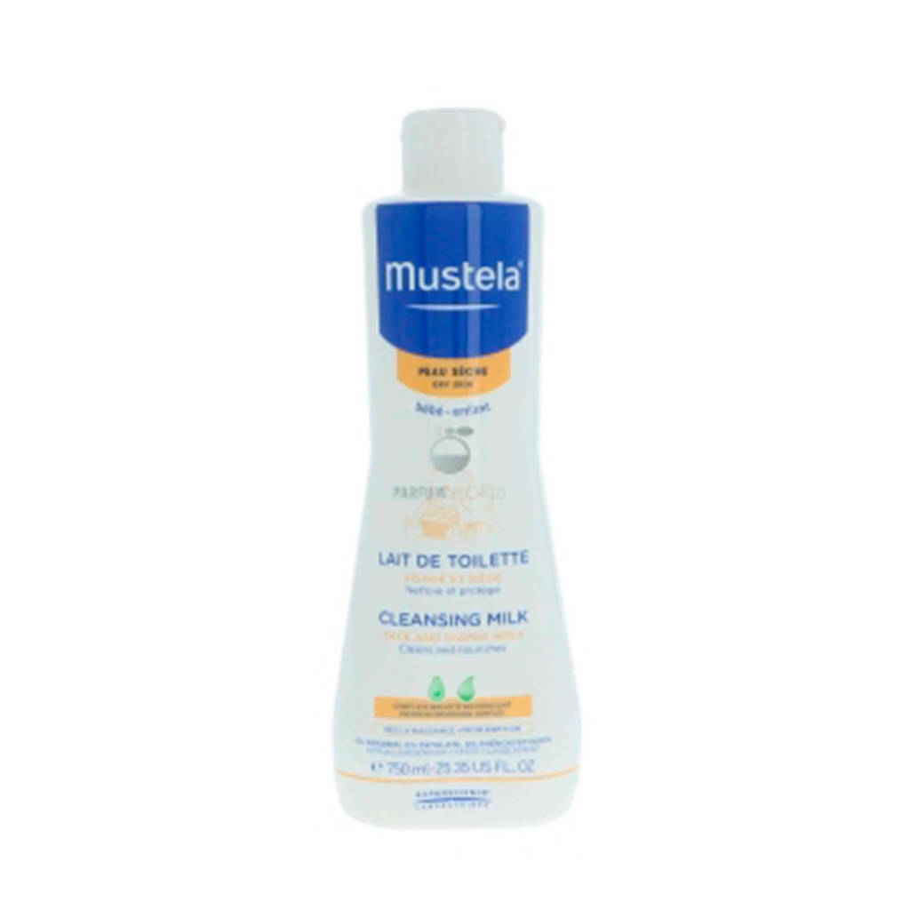 Mustela Dry Skin Cleansing Milk Face and Diaper baby reinigingsmelk - 750 ml