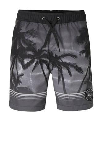 zwemshort met all over print zwart
