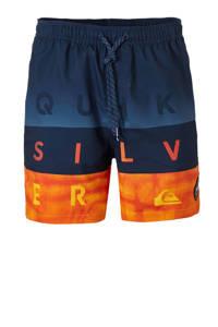 Quiksilver zwemshort met tekst marine, Marine/oranje