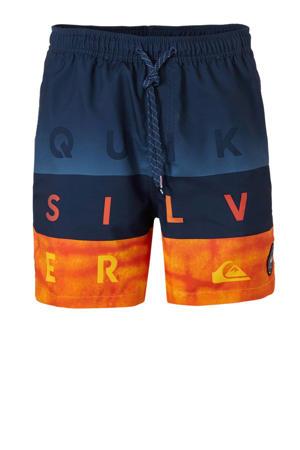zwemshort met tekst marine