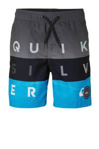 Quiksilver zwemshort met tekst grijs, Grijs/zwart/blauw