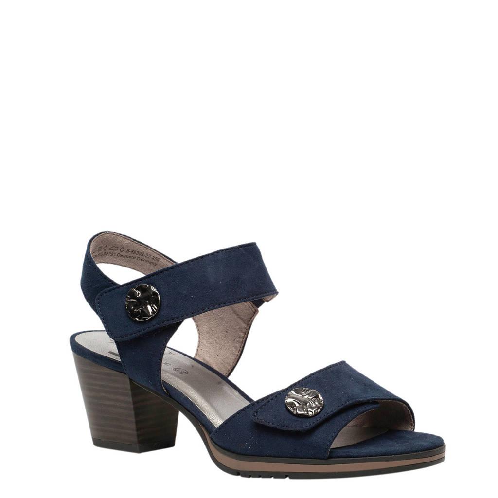Jana sandalettes donkerblauw, Donkerblauw
