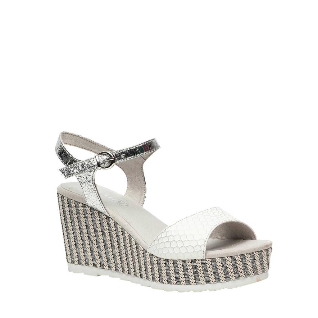 Scapino Nova   sandalettes wit/zilver, Wit/zilver