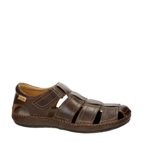 Pikolinos leren sandalen bruin