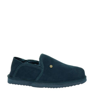 Lock suède pantoffels blauw