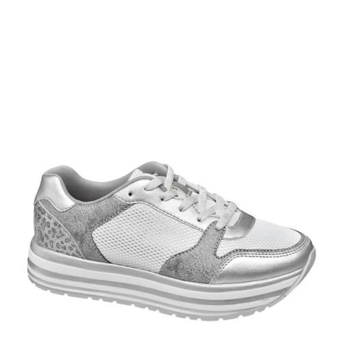 Graceland plateau sneakers zilver