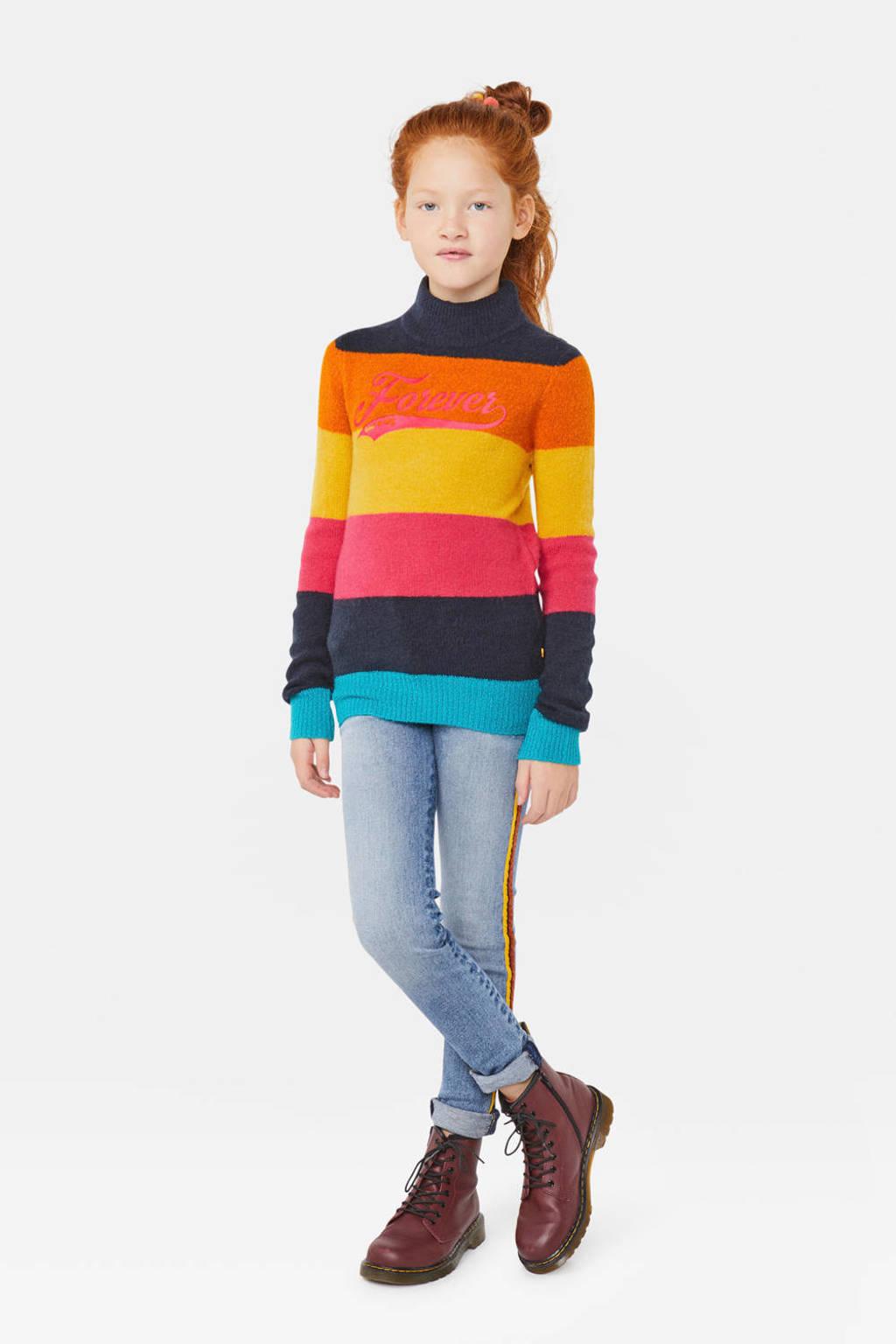 WE Fashion gestreepte gebreide trui meerkleurig, Meerkleurig