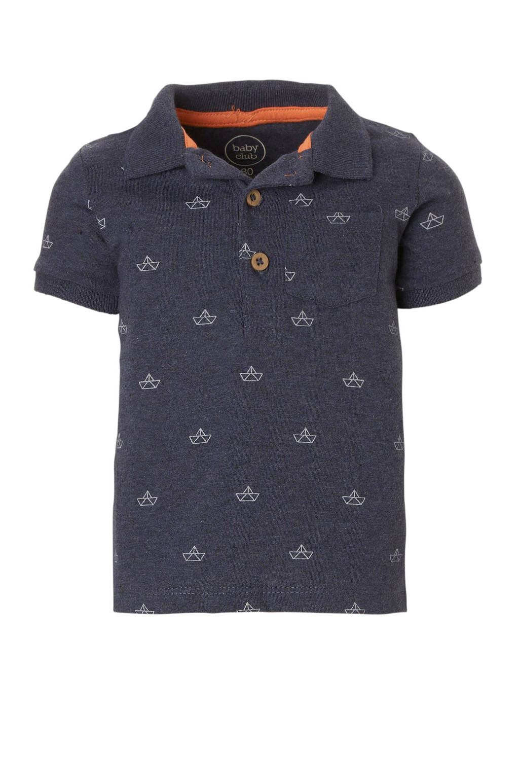 C&A Baby Club polo met all-over print blauw, Blauw