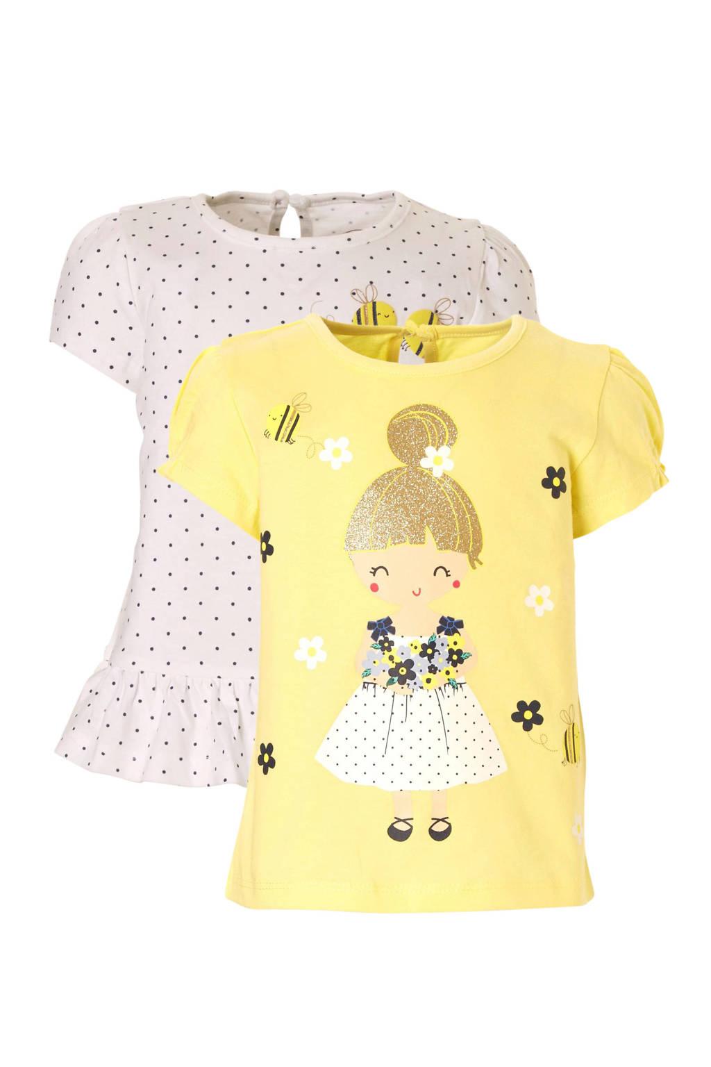 C&A Baby Club T-shirt - set van 2, Geel