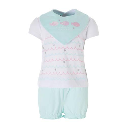 C&A Baby Club T-shirt + short + bandanaslab