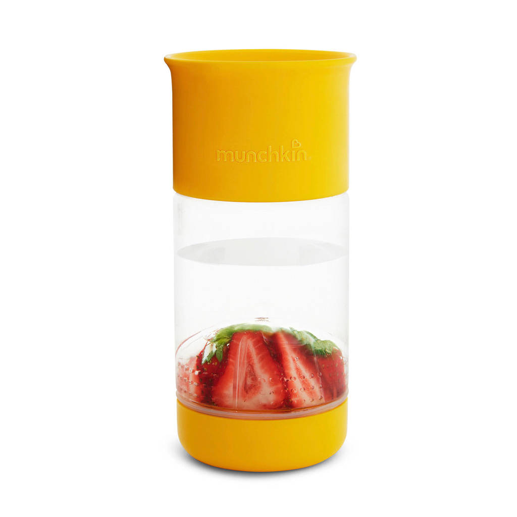 Munchkin miracle fruit infuser waterfles geel 414 ml, Geel