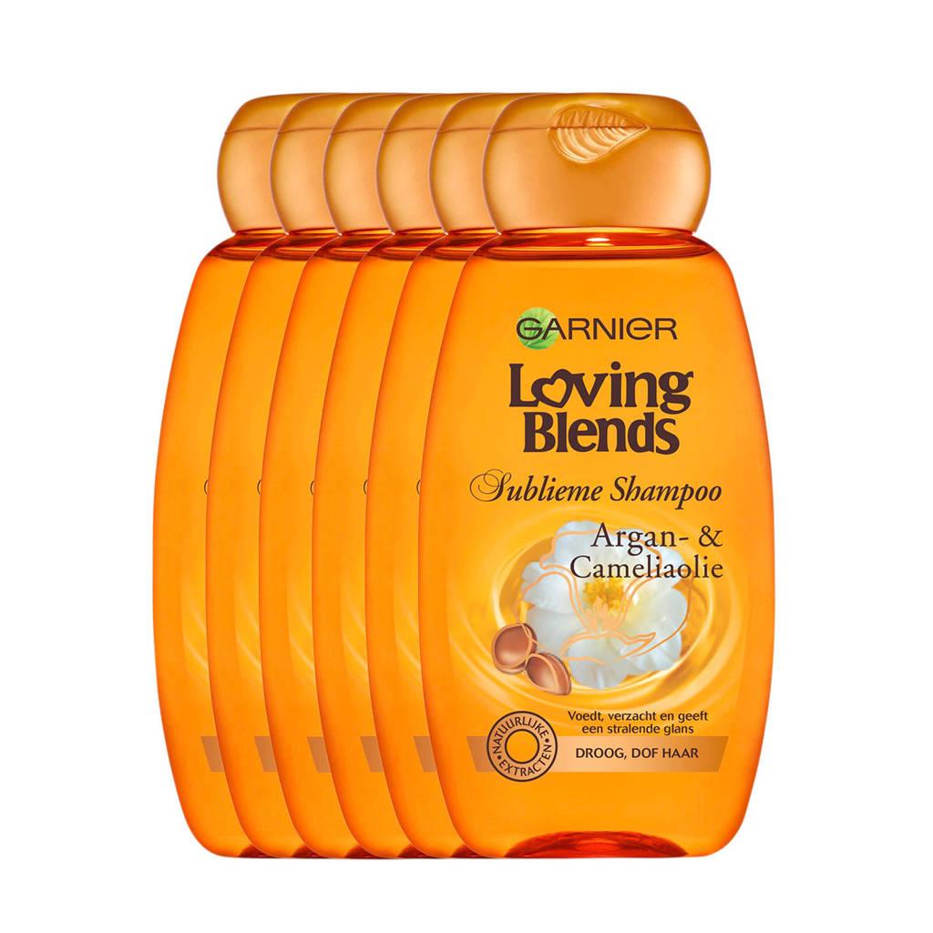 Garnier Loving Blends Argan & Cameliaolie Shampoo - 6x 250ml multiverpakking