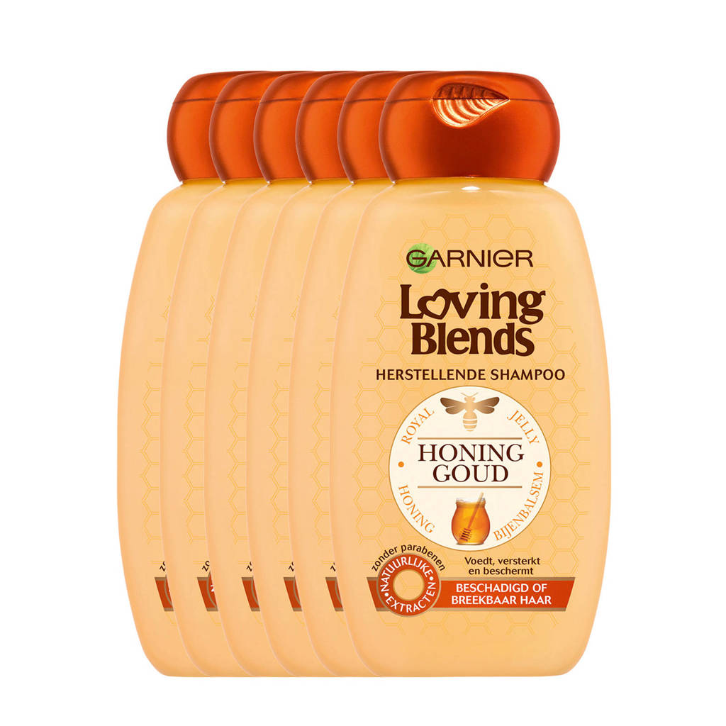 Garnier Loving Blends Honing Goud Shampoo - 6x 250ml multiverpakking