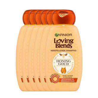 Loving Blends Honing Goud Shampoo - 6x 250ml multiverpakking