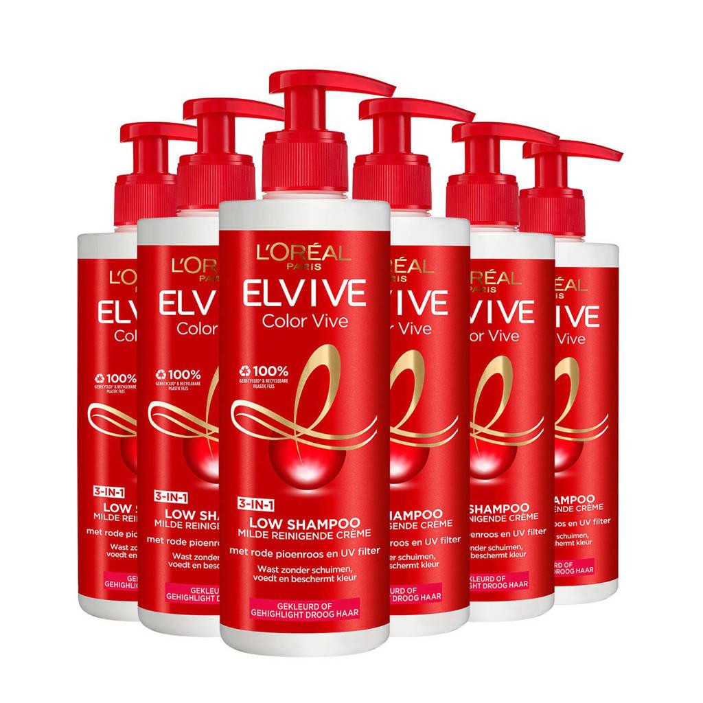 L'Oréal Paris Elvive Low Shampoo - 6x400ml