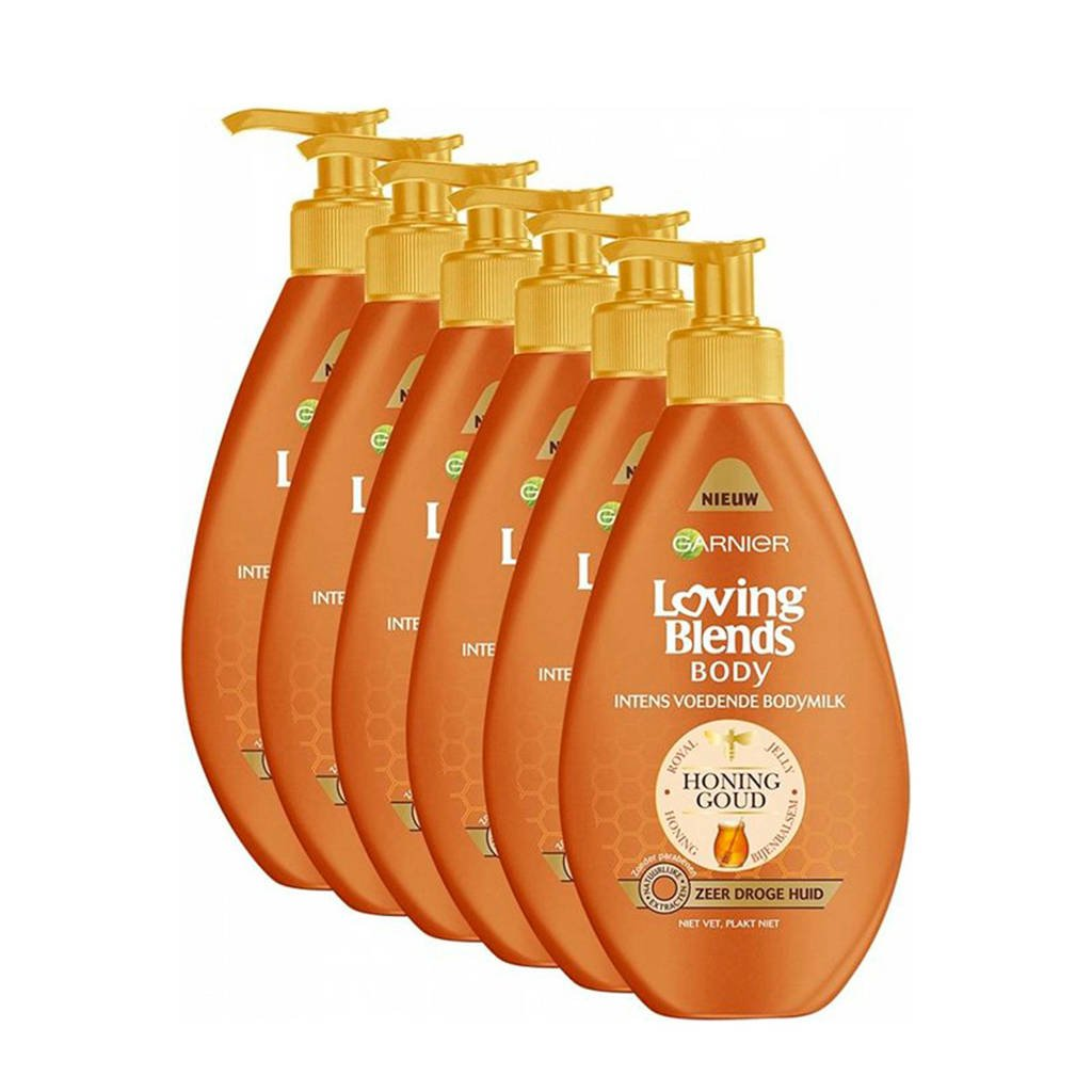 Garnier Loving Blends intens voedende Bodymilk - 6x 400ml multiverpakking