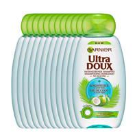 Garnier Ultra Doux Kokoswater & Aloe Vera Shampoo - 12x 300ml multiverpakking