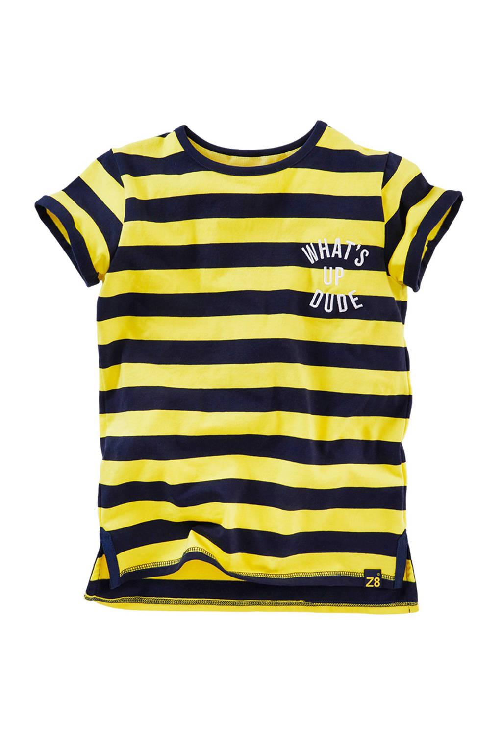 Z8 gestreept T-shirt Janko geel/blauw, Geel/donkerblauw
