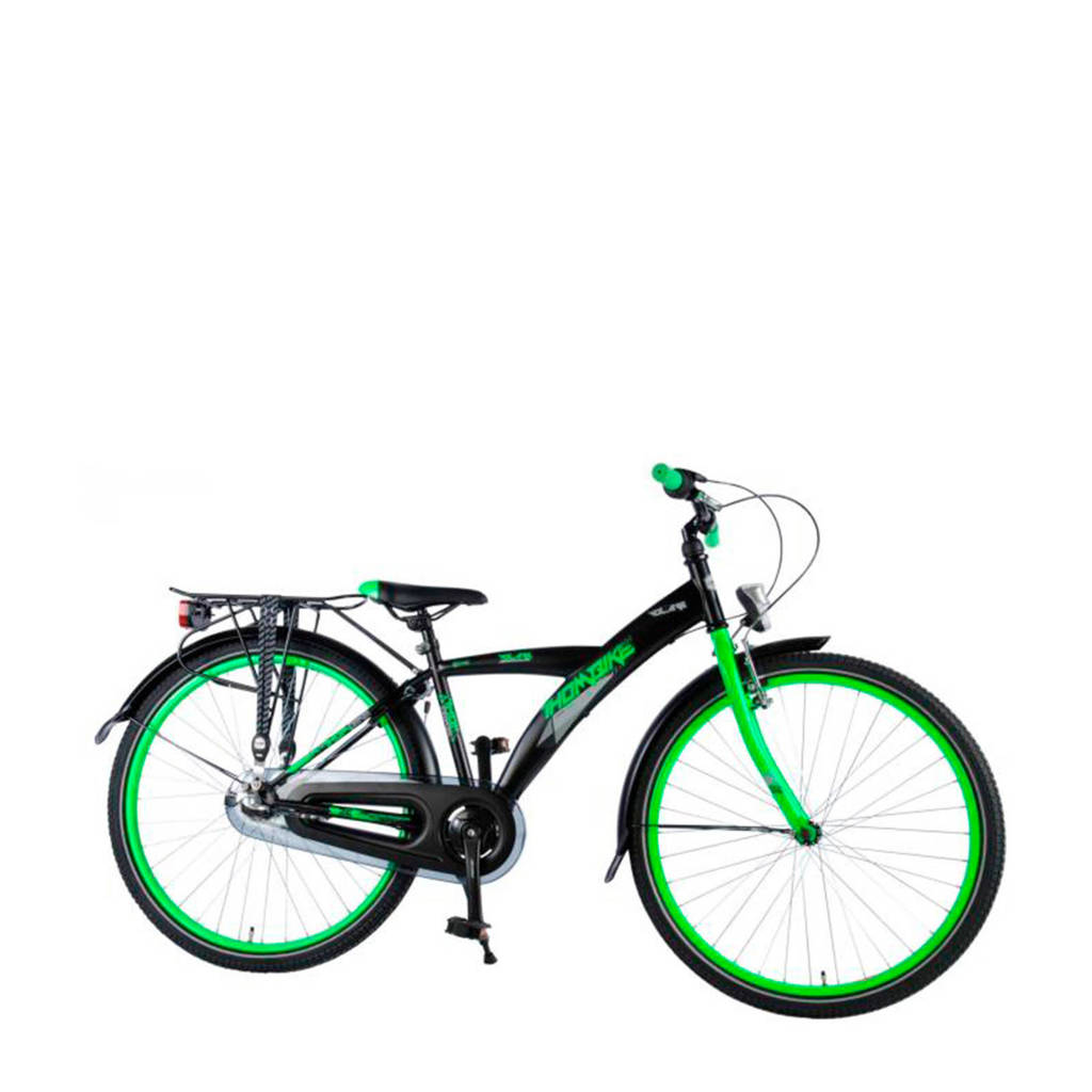 Volare  Thombike City 26 inch N3 speed zwart/groen, Zwart/groen