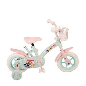 Girls 10 inch kinderfiets turquoise/roze