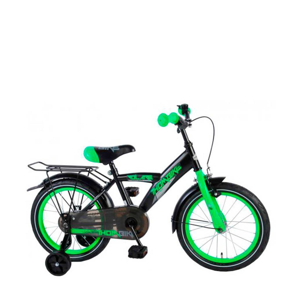 Volare  Thombike 16 inch zwart/groen, Zwart