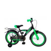 Volare  Thombike 16 inch zwart/groen, Zwart/groen