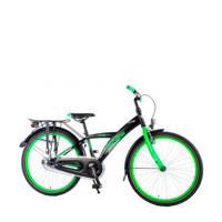 Volare  Thombike City 24 inch single speed zwart/groen, Zwart/groen